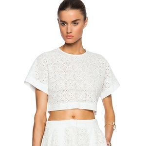 Elle Sasson ivory Jane eyelet crop top 4